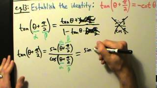 Trigonometry - Sum and Difference Formulas - Example 13