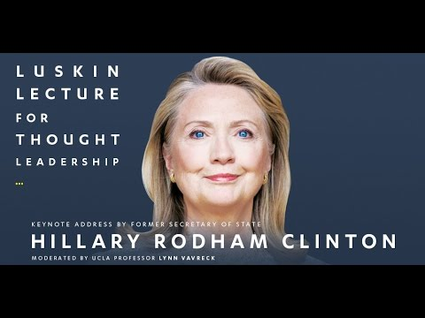 Hillary Clinton speaks at UCLA Luskin Lecture for Thought Leadership