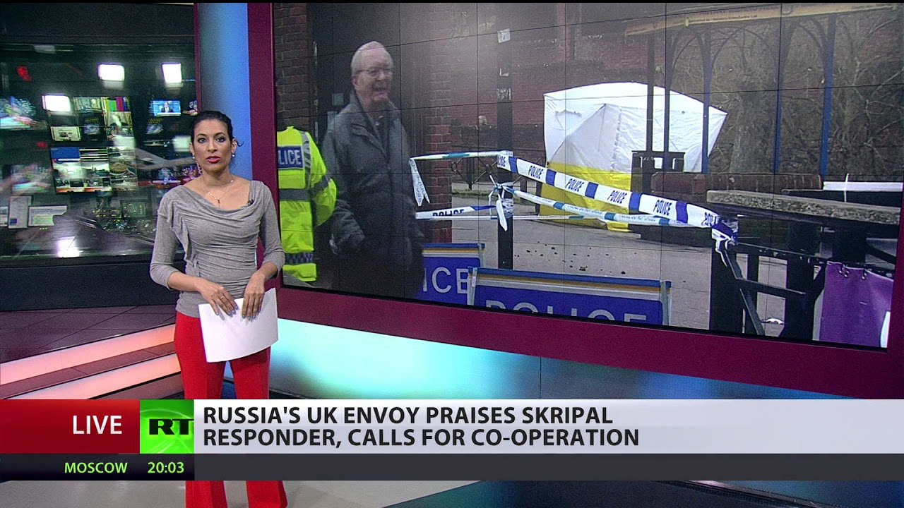 Russia's UK envoy thanks 1st responder at 'reckless' Skripal poisoning, calls for co-operation