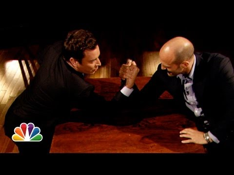 Jimmy Fallon and Jason Statham Arm Wrestle (Late Night with Jimmy Fallon)
