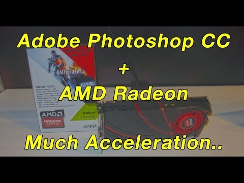 Adobe Photoshop CC and AMD Radeon GPU Smart Sharpen Benchmark using OpenCL