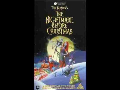 ... Burton's The Nightmare Before Christmas VHS UK-no end song - YouTube