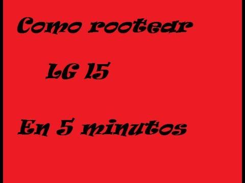 Como rootear Lg l5 E610 en Español 2013 HD