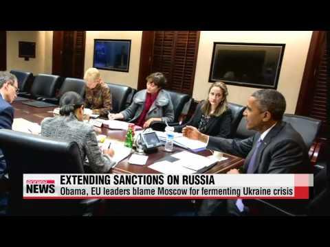 U.S., EU moves to extend sanctions on Russia   미국, 우크라 사태 관련 대러 제재 1년 더 연장