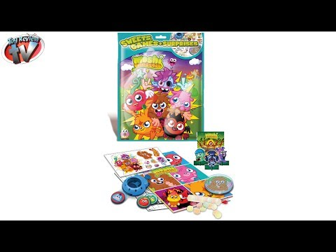 Moshi Monsters Sweets. Games & Surprises Mystery Toy Lucky Bag Opening