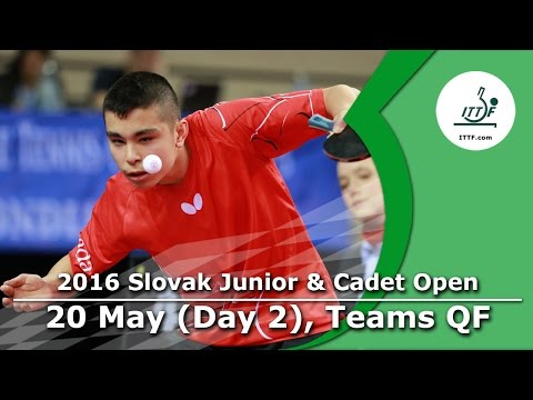 2016 ITTF Slovak Junior Open - Day 2 (Team Events: Q-Finals)
