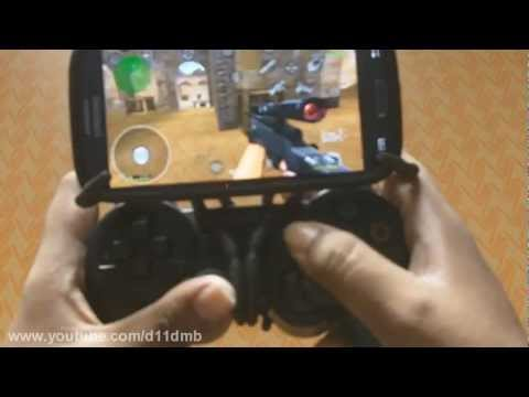 Samsung Galaxy S3 with PS3 controller mount