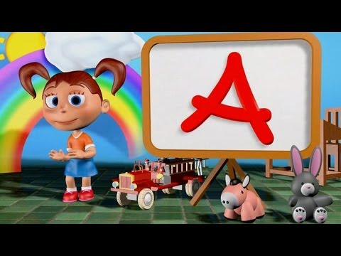 ABC Song 3D | nursery rhymes & children songs with lyrics
