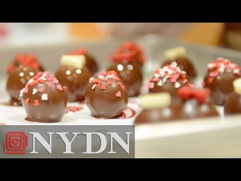 Making Chocolate Truffles for Valentine's Day : Pinkies Out