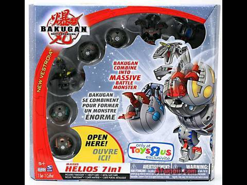 Bakugan Maxus Helios Battle Monster Toy Review Unboxing