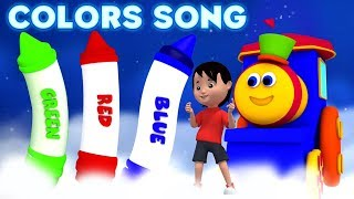 Bob o trem | giz de cera cores canção | educativo vídeo | Bob Colors Song