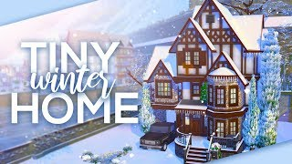 TINY WINTER HOME // Sims 4 Speed Build