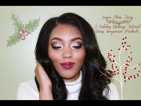 Sugar Plum Fairy   Holiday Makeup Tutorial Using Inexpensive Products