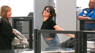 Camila Cabello Turns LAX TSA Into A Runway, Striking Poses For The Paparazzi!