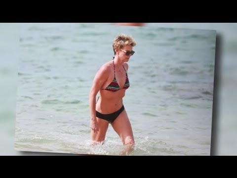Charlize Theron Wows on the Beach in Hawaii