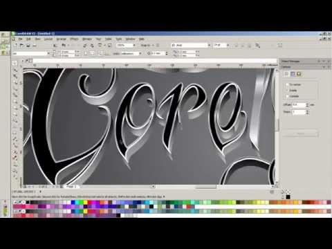 typography coreldraw speed drawing