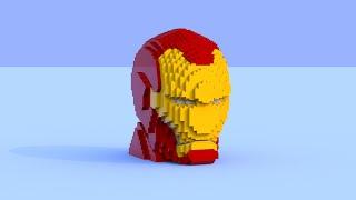 How to Build Lego Iron Man Sculpture