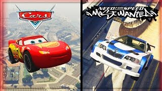 Disney Cars Lightning McQueen | BMW M3 Need For Speed (GTA 5 Mods Funny Moments)