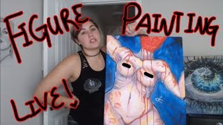 Wine And Art Class 02! Painting The Female Form LIVE!