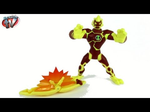 Ben 10 Omniverse 15cm Feature Heatblast Action Figure Toy Review. Bandai