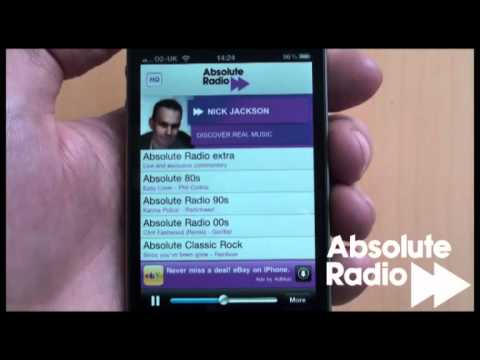 Absolute Radio listen apps for iPhone, iPod Touch and iPad