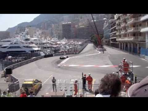 f1 Jenson Button last lap at Monaco Grand Prix 2009