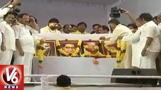 AP CM Chandrababu Naidu Begins Dharma Poarata Deeksha In Vijayawada