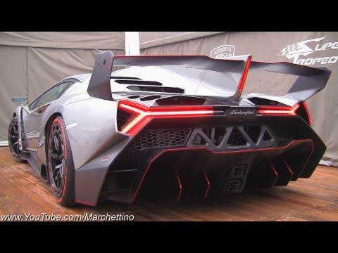 Lamborghini Veneno LOUD Exhaust Sound! - 2x Start and Moving