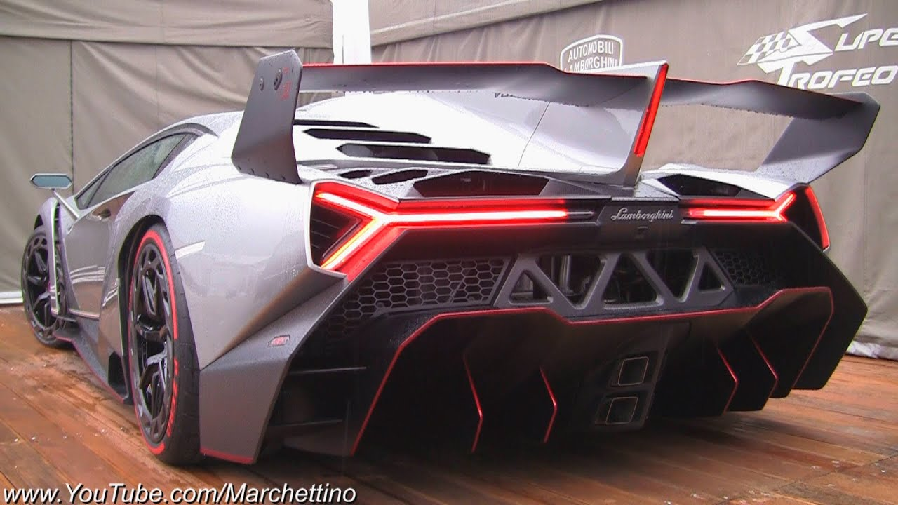 Lamborghini Veneno Loud Exhaust Sound 2x Start And