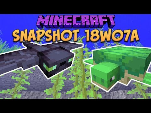 Minecraft 1.13 Snapshot 18w07a Update Aquatic Arrives, Phantom Mob, Turtle Mob, Trident & More