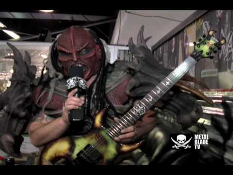 GWAR's Flattus Maximus shows off his custom Schecter guitar