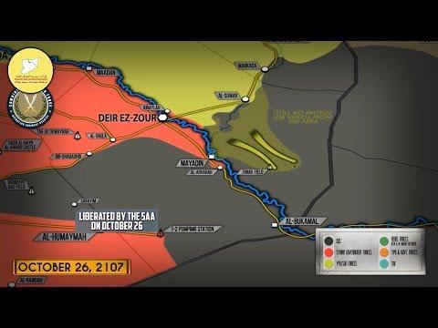 26 октября 2017. Военная обстановка в Сирии и Ираке. Сирийская армия проигрывает гонку за нефть.