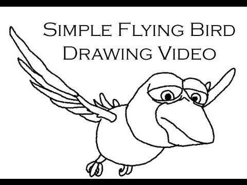 How to Draw a Bird Flying Simple How to Draw a Cartoon Flying