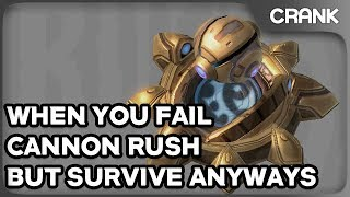 When You Fail Cannon Rush, But Survive Anyways - Crank's StarCraft 2 Variety!