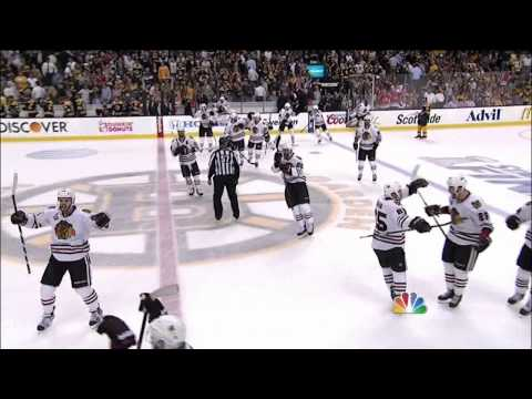 Brent Seabrook OT laser slapshot goal 6-5. 6/19/13 Chicago Blackhawks vs Boston Bruins NHL Hockey