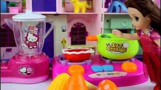 Baby Doll Kitchen and cooking toys play