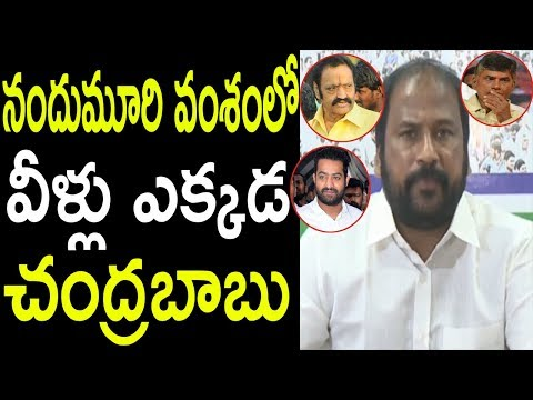 నందుమూరి వంశం YSRCP TJR Sudhakar Babu Comments On Chandrababu Politics 40 Years  | Cinema Politics