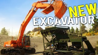 LARGEST GOLD NUGGET FOUND! WE BUY OUR MOBILE WASH PLANT + EXCAVATOR- Gold Rush Full Release Gameplay