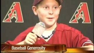 Kid gives up a baseball