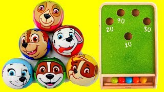 Paw Patrol Toys Snooker! Learn Colors with Paw Patrol Balls Surprises