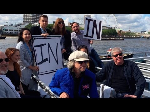 Bob Geldof & Nigel Farage Face Off in Brexit Flotilla Battle on the Thames