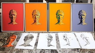 Multi-Layered Stencil + Custom Frames - Walkthrough of My Biggest Studio Project