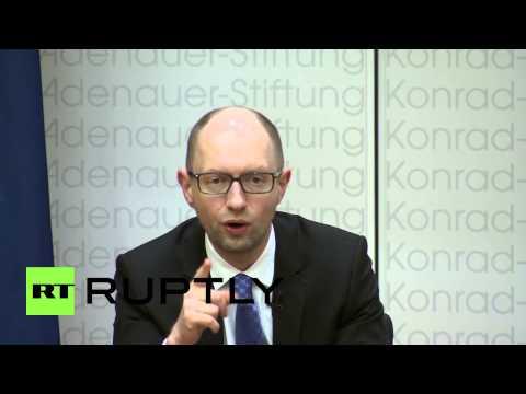 Germany: 'We are fighting for your security' - Ukrainian PM Yatsenyuk