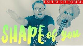 Download Lagu SHAPE OF YOU - ED SHEERAN (UKULELE TUTORIAL!) Gratis STAFABAND