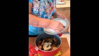 لوییم ویدا - برنج با بادمجان و گوجه فرنگی و گوشت چرخ شده
