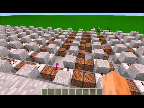 進擊的巨人op重制 Minecraft Note Block Music 進撃の巨人OP「紅蓮の弓矢」(中日字幕)