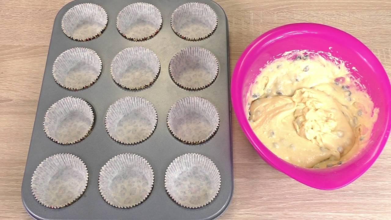 Super przepis na muffiny   muffiny w 3 minuty   muffiny z posypką czekoladową
