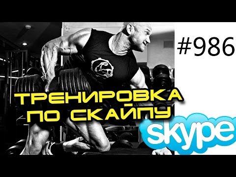 Видео тренировки онлайн по скайпу с Юрием Спасокукоцким. Набор мышечной массы и сушка тела.
