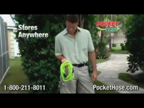 Pocket Hose - Official Commercial - As Seen On TV Growing Garden Hose