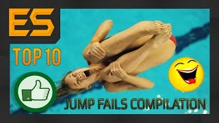 TOP 10  - НЕУДАЧНЫЕ ПРЫЖКИ - CLIFF JUMP FAILS COMPILATION